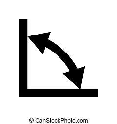 géométrie, symboles, noir, signes, math, icône