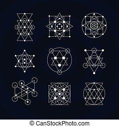 géométrie, symboles, sacré