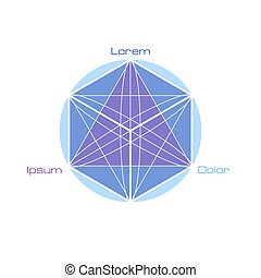 géométrie, symboles, sacré, elements.