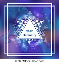 géométrie, triangle, magie, fond