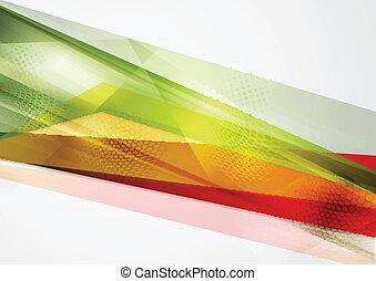 géométrie, vecteur, coloré, fond