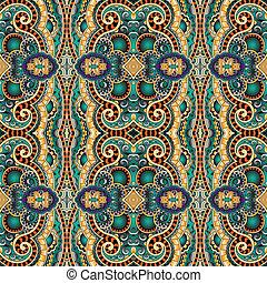 géométrie, vendange, floral, seamless, modèle