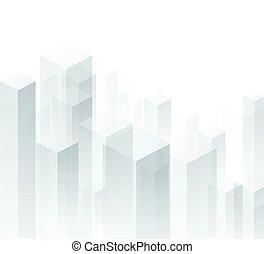 géométrique, arrière-plan., perspective, blanc, 3d