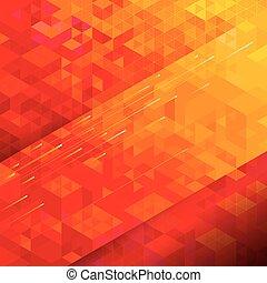 géométrique, arrière-plan rouge