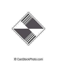 géométrique, carrée, résumé, vecteur, carreau, logo