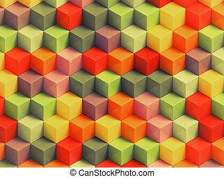 géométrique, coloré, fond