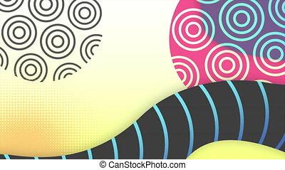 géométrique, coloré, résumé, fond, formes, mouvement