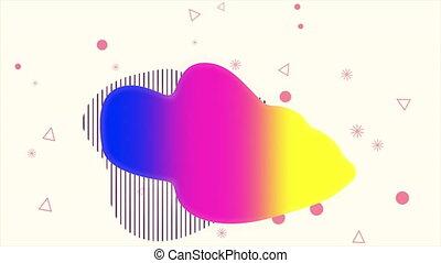géométrique, coloré, résumé, liquide, fond, formes, ...