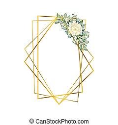géométrique, fleurs, polyèdre
