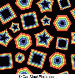 géométrique, fond, b, graphique, arc-en-ciel, figures, noir
