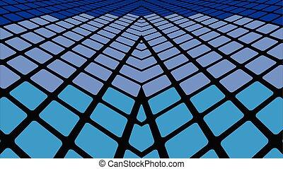géométrique, fond, bleu, résumé