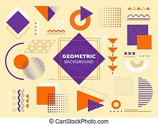 géométrique, fond, moderne