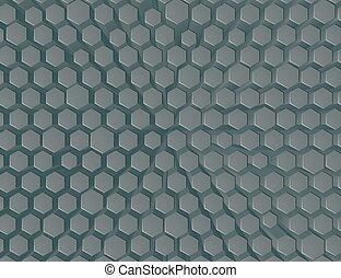 géométrique, hexagone, rayon miel, résumé, fond