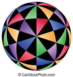 géométrique, illusions, fond