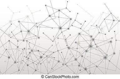 géométrique, molécule, fond