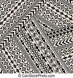 géométrique, motifs, ethnique