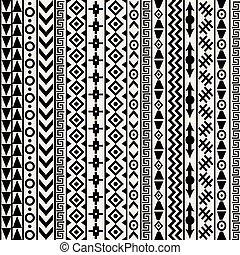 géométrique, motifs, fond, ethnique