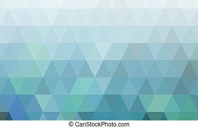 géométrique, poly, bas, fond, bleu