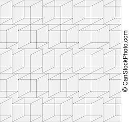 géométrique, seamless, texture, cubique