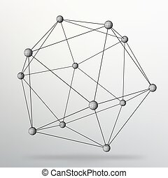 géométrique, style, grille, business., moléculaire, vecteur, polygons., 10, lattice., structural, conception, illustration., résumé, fond, eps, créatif, brochure, en-tête lettre, shapes., concept