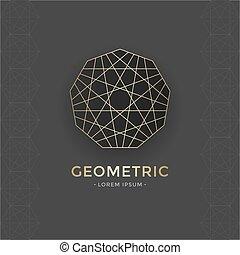 géométrique, symbole, sacré