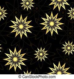 géométrique, vecteur, noir, seamless, texture