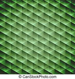 géométrique, vert émeraude, fond, cubique