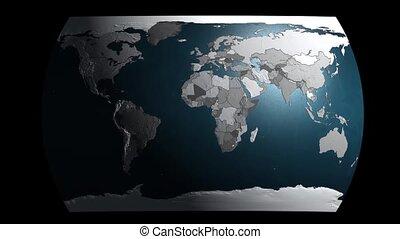 géopolitique, la terre, 3d