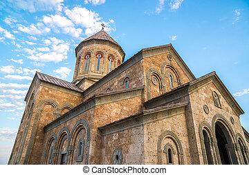 géorgie, saint, orthodoxe, monastère, géorgien, complexe,...