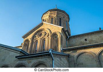 géorgie, samtavro, couvent, rue., transfiguration,...