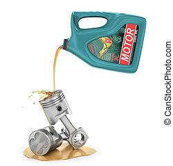 gép, öntés, olaj, oil., ábra, műanyag, container., motor, -e, 3