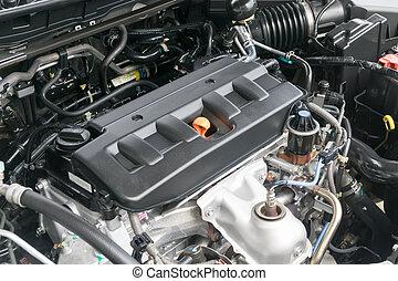 gép, autó, sapka, olaj