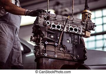 gép, autószerelő