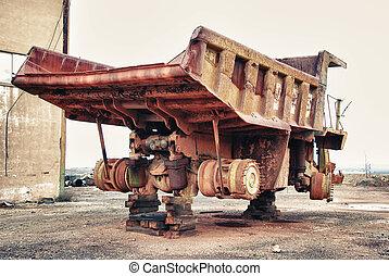 gép, csereüzlet, bányászás, ipari