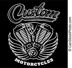 gép, háttér, ábra, fekete, motorkerékpár, vektor, kasfogó