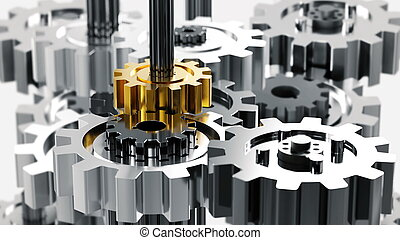 gép, mérnök-tudomány, mechanikai