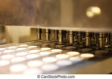 gép, pékség, iparág, öntés