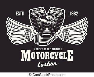 gép, sötét, motorkerékpár, háttér, kasfogó