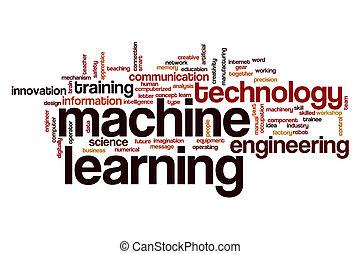 gép, szó, tanulás, felhő