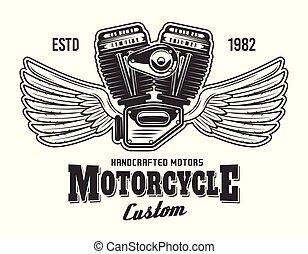 gép, szöveg, minta, motorkerékpár, kasfogó