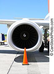 gép, transportation:, részletez, sugárhajtású repülőgép, levegő