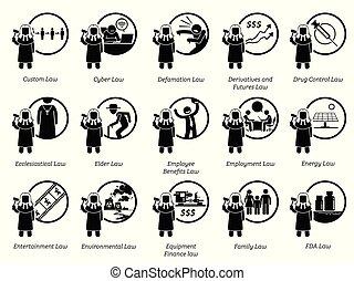 gépel, közül, kormány, uram, döntések, és, előírások, icons.