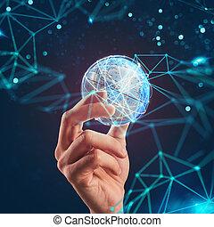 gérer, communication, global, internet