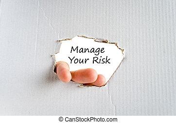 gérer, texte, concept, ton, risque