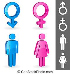 gênero, symbols.