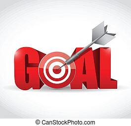 gól, és, céltábla, és, hajít, ábra, tervezés