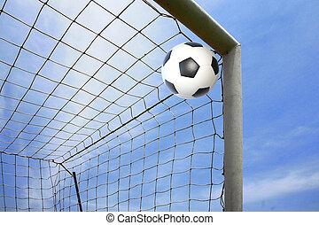 gól, labda, futball