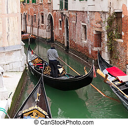 góndola, venecia, canal