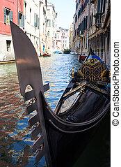 góndola, venecia, negro