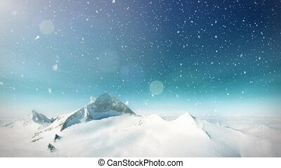 góra, śnieg, pętla